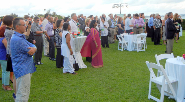 Attendees at the 4th North American Tea Conference, opening reception Bermuda.