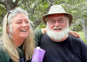 Sarah Baisley and Dan Bolton return to base camp.