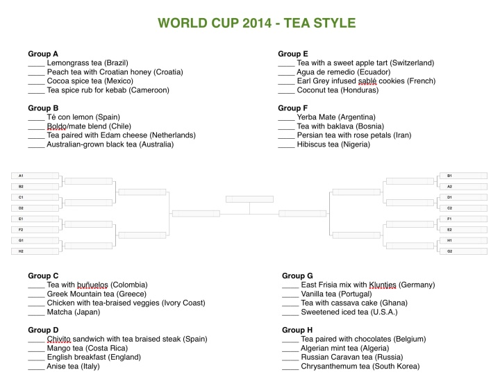 World Cup 2014 Tea Style